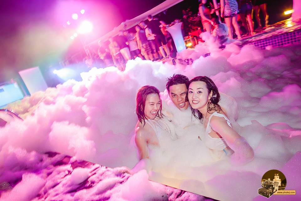 Foam Party at Centra Ashlee Hotel Patong Patong Phuket